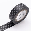 10m Washi Tape 15mm Dot Black and Gray