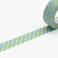 10m Washi Tape 15mm Dot Aqua