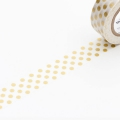 10m Washi Tape 15mm Dot Gold