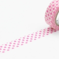 10m Washi Tape 15mm Dot Pink