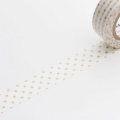 10m Washi Tape 15mm Dot S Gold