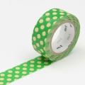 3m Flocky Tape mt fab 15mm Dot Green + Cream