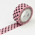 3m Flocky Tape mt fab 15mm Dot Pink + Black