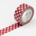 3m Flocky Tape mt fab 15mm Dot Red + White