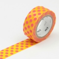3m Flocky Tape mt fab 15mm Dot Yellow + Red