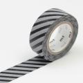 3m Flocky Tape mt fab 15mm Stripe Black + Gray