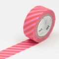 3m Flocky Tape mt fab 15mm Stripe Pink + Red