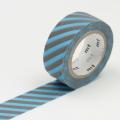 3m Flocky Tape mt fab 15mm Stripe Sky Blue + Gray