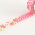 10m Washi Tape 15mm Flower Red R