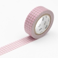 10m Washi Tape 15mm Hougan Pink x Brown