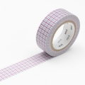 10m Washi Tape 15mm Hougan Purple x Gray