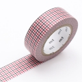 10m Washi Tape 15mm Hougan Red x Black