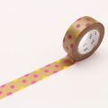10m Washi Tape 15mm Kirakira Gold