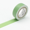 10m Washi Tape 15mm Border Light Green