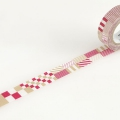 10m Washi Tape 15mm Mix Red