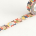 10m Washi Tape 15mm Mosaic Greyish