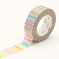 10m Washi Tape 15mm Multi Border Pastel