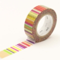 10m Washi Tape 15mm Multi Border Vivid