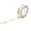 10m Washi Tape 15mm Sankaku Blue