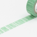10m Washi Tape 15mm Script Border Green