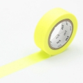 10m Washi Tape 15mm Shocking Yellow