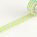 10m Washi Tape 15mm Square Yellow
