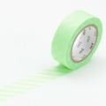 10m Washi Tape 15mm Stripe Shocking Green
