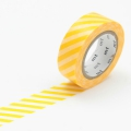 10m Washi Tape 15mm Stripe Yellow