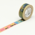 7m Washi Tape 15mm Kids Vehicle