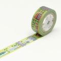 7m Washi Tape 15mm Kids Work-Town