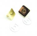 10 Magnetknöpfe gold 18mm eckig