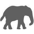 Motivstanzer klein Elefant 1,7cm