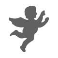Motivstanzer klein Engel 1,7cm