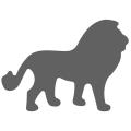 Motivstanzer klein Löwe 1,7cm
