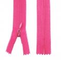 Nahtverdeckter Reißverschluss 30cm pink, 5 Stück