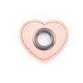Ösen-Patches rosa Herz 8mm - Öse schwarz brüniert