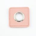 Ösen-Patches rosa 12mm - Öse silber