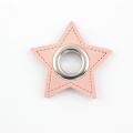 Ösen-Patches rosa Stern 10mm - Öse silber