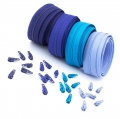 12m Opti Reißverschluss Set Blautöne 3mm