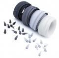 12m Opti Reißverschluss Set Grautöne 3mm
