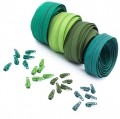 12m Opti Reißverschluss Set Grüntöne 3mm