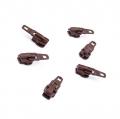 Opti Reißverschluss-Schieber 3mm dunkelbraun Col. 8863