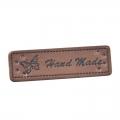 4 Stück Handmade-Label dunkelbraun 50mm x 15mm