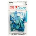 Prym Love Color Snaps 30 Stk. blau, petrol, türkis 393000