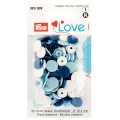 Prym Love Color Snaps 30 Stk. blau, weiß, hellblau 393009