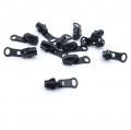 5 Stück Schieber beidseitig schwarz für 5mm Profil-Reißverschluss