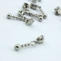 10 Stück Zipper silber für 3mm Reißverschluss