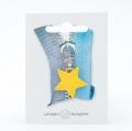 Reißverschlussanhänger Stern gelb