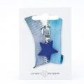 Reißverschlussanhänger Stern blau