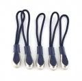 Reißverschlussanhänger dunkelblau mit Metallspitze 5er Pack
